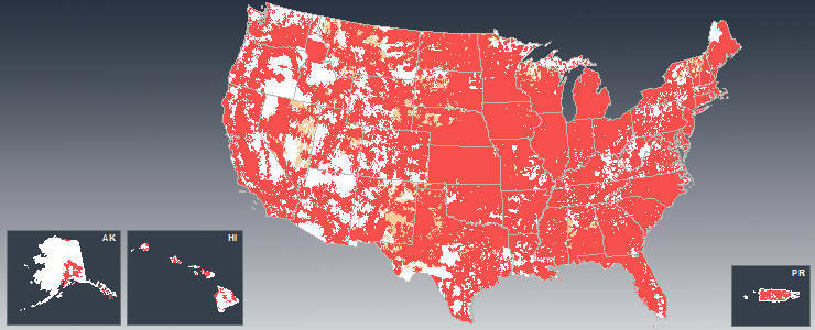 Cell phone coverage usa and canada cities